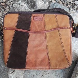 LUCKY BRAND suede messenger crossbody bag
